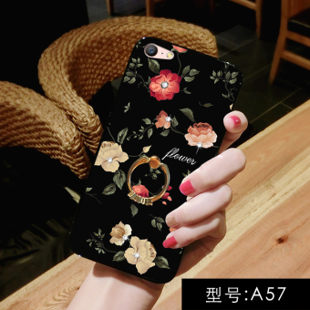 Oppoa59s/oppoa57/A53/A59 crystal ring support all-inclusive drop-resistant protective case phone case