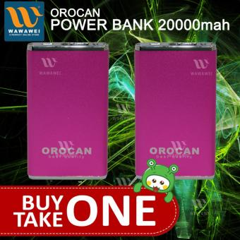 Orocan Smart Power Bank With Flashlight 20000mAh buy 1 take 1(Pink)