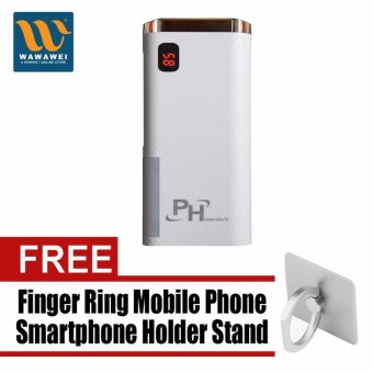 PHstandard SPN-999 20800mAh Power Bank with Lighthouse and ColorLogo with free Finger Ring Mobile Phone Smartphone Holder Stand foriPhone (Color May Vary)