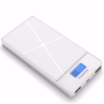 Pineng PN-983 10000mAh Lithium Polymer Power Bank (White)