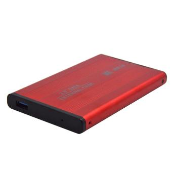 Portable 2.5 Inch SATA to USB 3.0 External Mobile Hard Drive Case HDD Enclosure Red - intl
