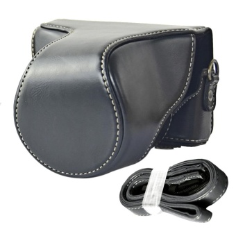 Portable Camera Protector Case PU Leather Protective Bag Cover withAdjustable Shoulder Strap for Canon EOS M10 Black - intl