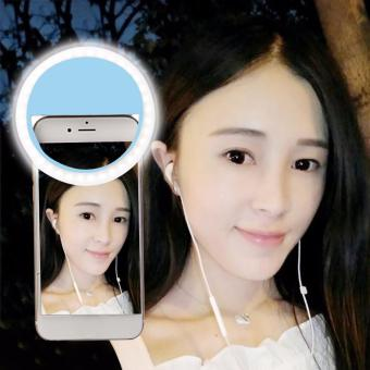 Portable Fill-in Flash LED Selfie Ring Light for Smartphone