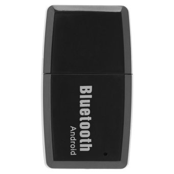 Portable USB Bluetooth 4.1 Music Receiver Wireless Stereo AudioAdapter Car Kit Black Android - intl