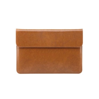 Premium PU Leather Sleeve Case Bag for Microsoft Surface Pro 4 -Brown - intl