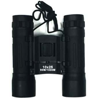 Professioanl Telescope Folding Roof Prism Binoculars 10 x 25(Black)
