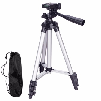 Professional Adjustable Portable Travel Aluminum Camera Tripod Pan Head for SLR DSLR Digital Camera Mount Bracket Holder Stand for Fishing Light Camera DV Mobile Phone - intl