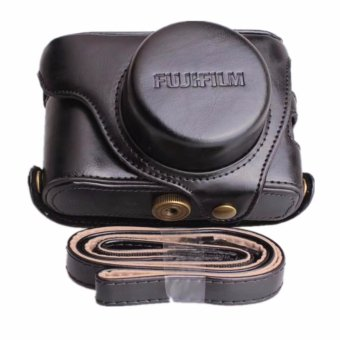 Pu Leather Camera Case Bag For Fuji X100F With Shoulder Strap -intl