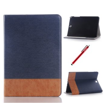 PU Leather Flip Case Cover for Samsung Galaxy Tab A 8.0 T350 (DarkBlue)