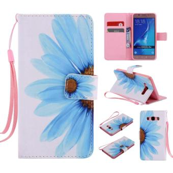 PU Leather Flip Wallet Case for Samsung Galaxy J5 2016 - intl