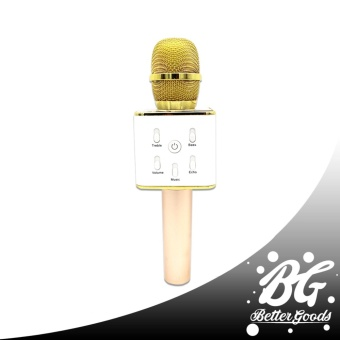 Q7 Wireless Bluetooth Microphone & HIFI Speaker (Gold/White)