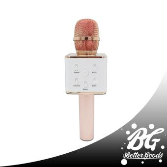Q7 Wireless Bluetooth Microphone & HIFI Speaker (Rosegold/White)