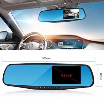 Quality YG-A70 Rearview Dashcam FHD 1080p Dual lens car camera rear view mirror night vision auto dvr parking video recorder