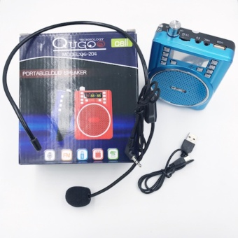 QuGoo Portable Loud Speaker With Lapel Microphone QG-204 Price Philippines