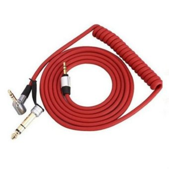 Red 3.5mm to 6.5mm Male to Male Replacement Pro and Detox Edition Aux Stereo Audio Cable Wire Cord for Beats Headphones Adapter - intl