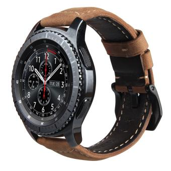 Replacement Crazy Horse Soft Genuine Leather Strap for Samsung Gear S3 Classic SM-R770 S3 Frontier SM-R760 SM-R765 Smart Watch Band - intl ...