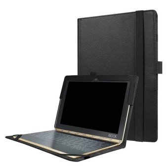 RHK Slim-Book Stand PU Leather Case Cover for Lenovo Yoga Book 10.1(Black) - intl Price Philippines