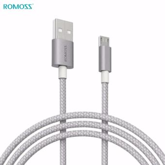 ROMOSS Braided Micro USB Cable CB05n Nebula Series 1 meter 100cm3.28 ft. (Silver)