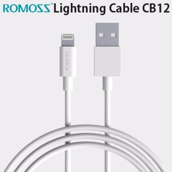 ROMOSS Classic Series Lightning Cable CB12 100cm,3.28ft for iOS 10 and lower iOS System (White)