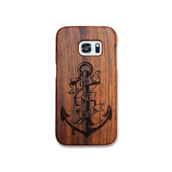 Rosewood True Wood Phone Case for Samsung Galaxy S7 edge - Lost atsea - intl
