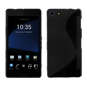 S-Line TPU Silicone Skin Case for Sony Xperia Z3 Mini Compact Black- intl Price Philippines