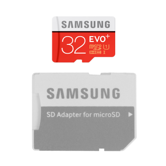 Samsung Class 10 Evo Plus MB-MC32D 32GB microSDHC Card (Red) withSD Adapter