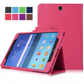 Samsung Galaxy Tab A 9.7 SM-T550 9.7-Inch Tablet Case - PU Leather Multi-Angle Stand Auto Sleep Wake Magnetic Smart Cover (Hot Pink)