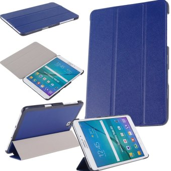 Samsung Galaxy Tab S2 8.0 Smart Shell Case - Ultra Slim LightweightStand Cover with Auto Sleep/Wake Feature for Samsung Galaxy Tab S2Tablet (8IN Wi-Fi SM-T710 / LTE SM-T715) -Dark Blue