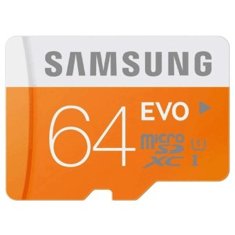 Samsung Micro SDXC Card Class 10 UHS-1 64GB Evo with SD Adapter(Orange/White)