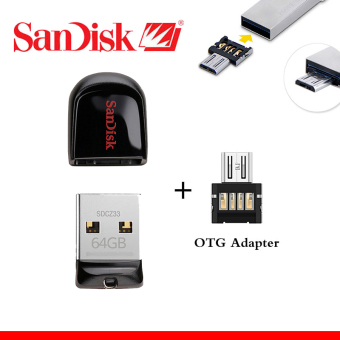 SanDisk CZ33 USB 2.0 Pen Drives 32GB mini USB flash drive + OTGadapter OTG function Turn into Phone USB stick(32GB) Price Philippines