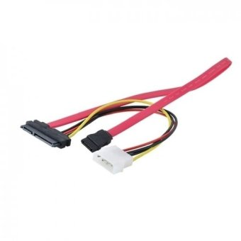 SATA 22pin 7+15pin Female to SATA Female Cable w/ Molex IDE 4PinPower 50cm
