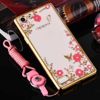 Secret Garden Plating TPU phone case For OPPO F3 plus (Gold) - intl