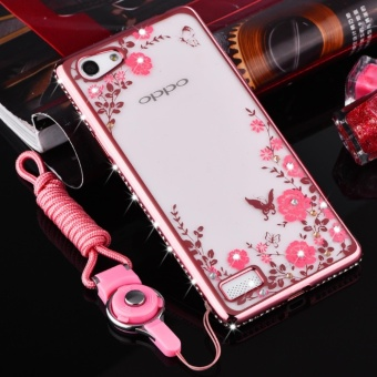 Secret Garden Plating TPU phone case For OPPO F3 (Rose Gold) - intl