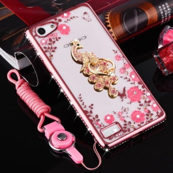Secret Garden Plating TPU phone case For OPPO F3 (Rose Gold+Phoenix) - intl