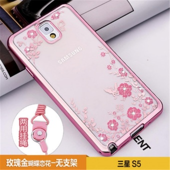 Secret Garden Plating TPU phone case For Samsung Galaxy S5 (i9600)(Rose Gold) - intl