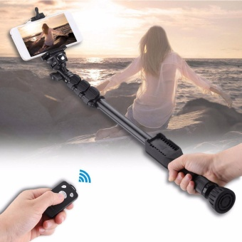 Selfie Monopod Extendable Handheld Pole with Shutter Remote Control- intl