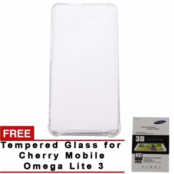 SHOCKPROOF Back case for CHERRY MOBILE omega lite 3 (clear) WITHFREE TEMPERED GLASS (CLEAR) Price Philippines