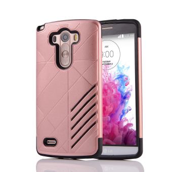 Silicon + PC Combo Case for LG G3 (Rose Gold) - Intl