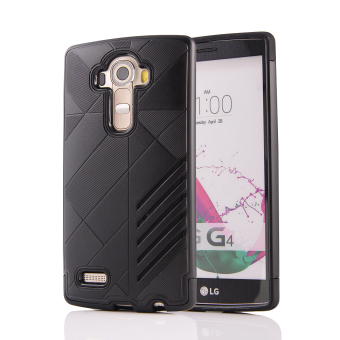 Silicon + PC Combo Case for LG G4 (Black) - Intl