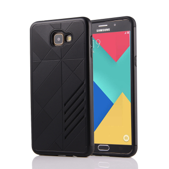 Silicon + PC Combo Case for Samsung Galaxy A9 (Black) - Intl