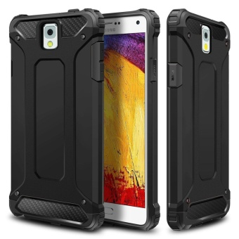 Slim Fit Rugged Hybrid Dual Layer Hard Shell Armor Impact ResistantBumper Protective Back Case Shockproof Cover for Samsung GalaxyNote 3 - intl
