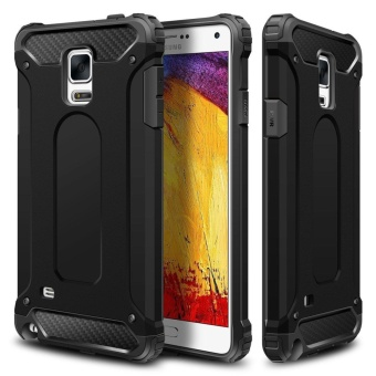 Slim Fit Rugged Hybrid Dual Layer Hard Shell Armor Protective Back Case Shockproof Cover for Samsung Galaxy Note 4 - intl