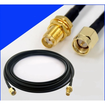 SMA Male to SMA Female Jumper Wi-Fi Wireless Antenna ExtensionCable 10M RG174 - intl