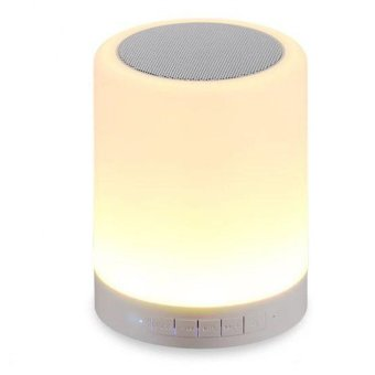 Smart LED Color Changing Light Lamp Bulb with Bluetooth Speaker(White)
