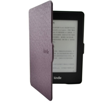 Smart Ultra Slim Magnetic Case Cover For Kindle Paperwhite+Screen film Purple