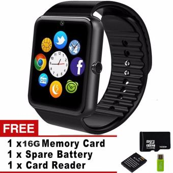 Smart Watch GT08 Clock Sync Notifier Support Sim Card Bluetooth Connectivity iphone Android Phone Smartwatch Watch - intl