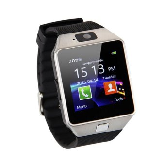 Smart Watch Phone With Sim Card Slot (Silver/Black)