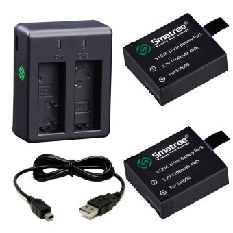 Smatree Battery Pack Ultra-Power Kit for SJ4000/SJ5000/M10/SJ5000Plus (Black)