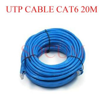 SOCUM UTP Cable Patch Cord with RJ45 CAT6 20M BLUE