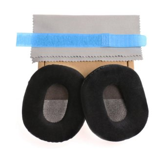 Soft Velvet Ear pads Ear-pads Cushions for Audio-technica ATH-M40xM50 M50S M20 M30 M40 ATH-SX1 Headphones - intl